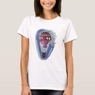 weirkの熱気の気球の漫画のスタイルの絵 tシャツ