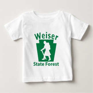 Weiser SFのハイキングの(女性) -幼児Tシャツ ベビーTシャツ