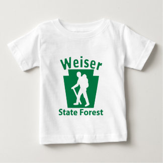 Weiser SFのハイキング(男性) -幼児Tシャツ ベビーTシャツ