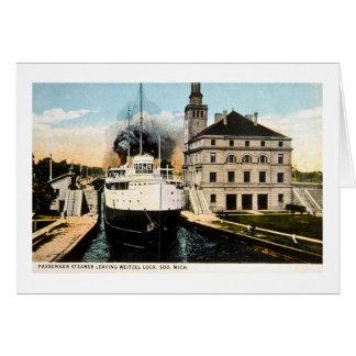 Weitzelロックを残している乗客の汽船Juanita カード