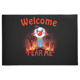 Welcome Fear Me Clown ドアマット