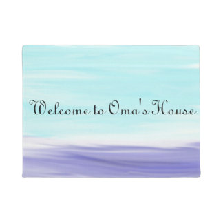 Welcome to Oma's House Watercolor Doormat ドアマット