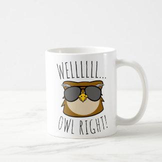 Well Owl Right コーヒーマグカップ