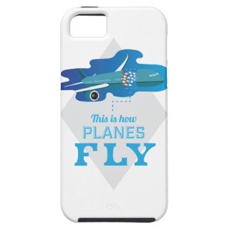 Wellcodaいかに飛行機のはえのジェット機の空の鳥 iPhone 5 タフケース