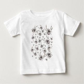 Wellcodaのくもの気味悪い恐れのタランチュラ ベビーTシャツ