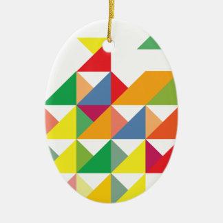 Wellcodaのすばらしい三角形のプリントの催眠薬 セラミックオーナメント
