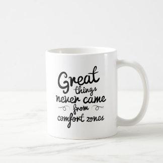 Wellcodaのよい事は心地よい地帯から決して来ませんでした コーヒーマグカップ