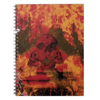 Wellcodaのスカルの火の死タンク焼却 ノートブック