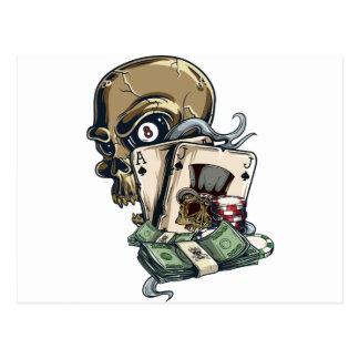 Wellcodaのスカルの頭部の賭博の演劇の死 ポストカード