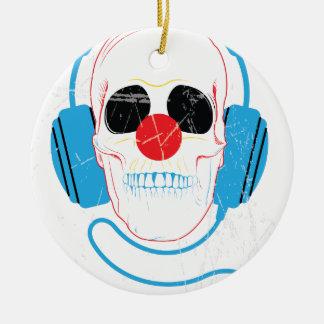 Wellcodaのスカルの頭部愛音楽ヘッドホーン セラミックオーナメント