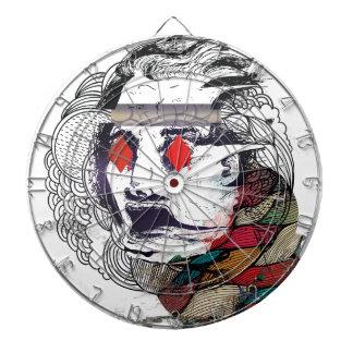 Wellcodaのダイヤモンドの目の顔のVibeのグラフィック ダーツボード