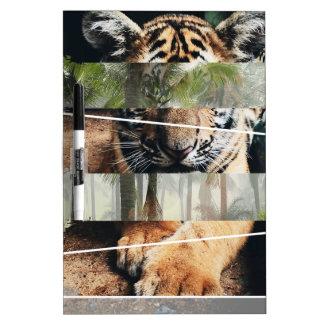 Wellcodaのトラのライオンのジャングルの森林動物 ホワイトボード