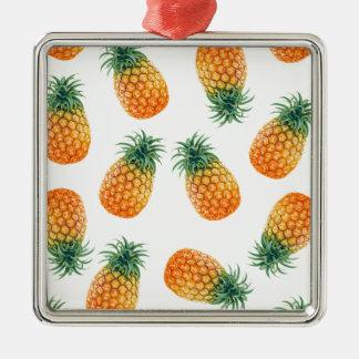 Wellcodaのパイナップルデザート用深皿の夏のおもしろい メタルオーナメント