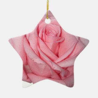 Wellcodaのピンクのバラのロマンチックなフラワーパワー セラミックオーナメント