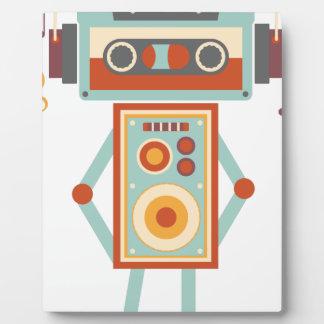 Wellcodaのロボット音楽テープDjのヘッドホーン フォトプラーク
