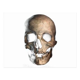 Wellcodaの人間のスカルの頭部の顔のクリープのマスク ポストカード