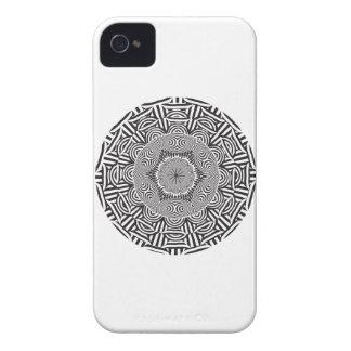 Wellcodaの光学インドのスタイルの錯覚 Case-Mate iPhone 4 ケース