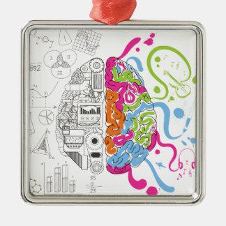 Wellcodaの創造的な頭脳の心のマスターの側面 メタルオーナメント