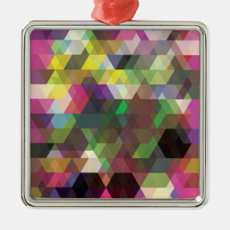 Wellcodaの多角形色の形の熱狂するなパターン メタルオーナメント