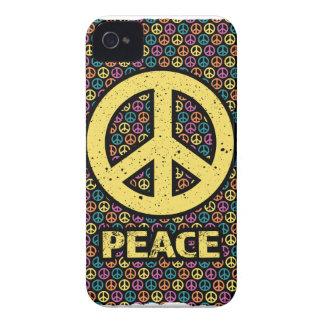 Wellcodaの広がりの平和ない戦争の調和のおもしろい Case-Mate iPhone 4 ケース