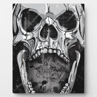 Wellcodaの怒っているスカルの収穫者の骨組骨 フォトプラーク