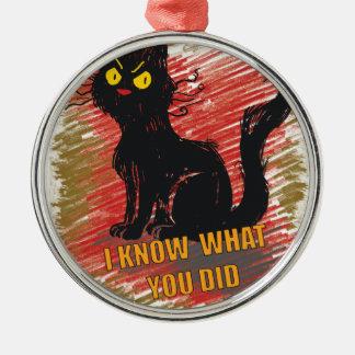 Wellcodaの怒っている黒猫の猫の鳴き声の気難しいペット メタルオーナメント