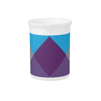 Wellcodaの数々のな正方形の十字の熱狂するなパターン ピッチャー