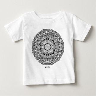 Wellcodaの服装のインドのスタイルの陶磁器のおもしろい ベビーTシャツ