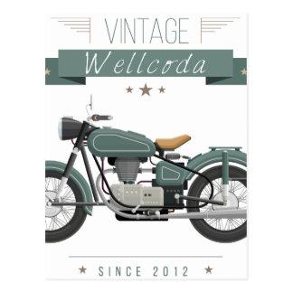 Wellcodaの服装のチョッパーの生命モーターバイク ポストカード