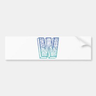 Wellcodaの服装の大きい手紙Wのロック・キー バンパーステッカー
