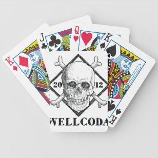 Wellcodaの服装の死んだ骨組海賊海 バイスクルトランプ
