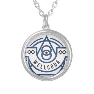 Wellcodaの服装の野生の生命目Illuminati シルバープレートネックレス