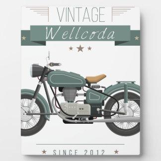 Wellcodaの服装モーターバイクのクラシックの車輪 フォトプラーク