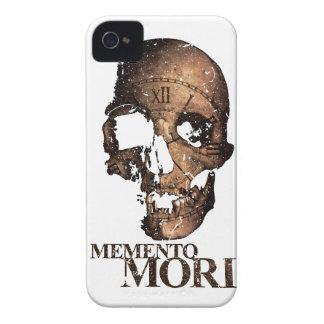 Wellcodaの死のスカルの時計の骨組時間 Case-Mate iPhone 4 ケース