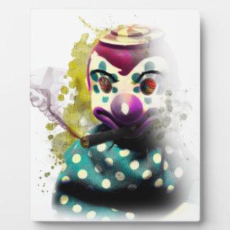 Wellcodaの熱狂するで邪悪なピエロのおもちゃの恐怖顔 フォトプラーク