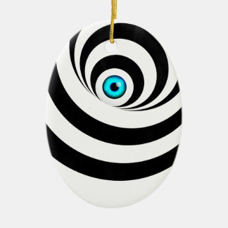 Wellcodaの目の錯覚の目の視野のアイディア セラミックオーナメント