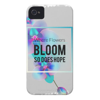 Wellcodaの花の開花および希望の幸せな時間 iPhone 4 Case-Mate ケース