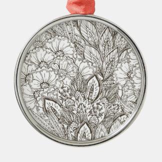 Wellcodaの野生の自然の植物の花の開花 メタルオーナメント