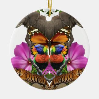 Wellcodaの野生動物の楽園の真珠のハマグリ セラミックオーナメント