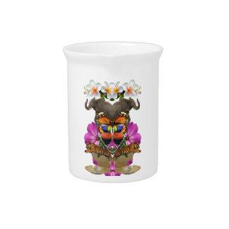 Wellcodaの野生動物の楽園の真珠のハマグリ ピッチャー