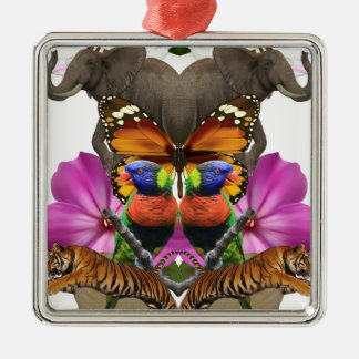 Wellcodaの野生動物の楽園の真珠のハマグリ メタルオーナメント