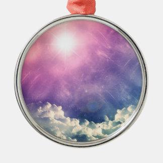 Wellcodaの雲の空の六角形愛形のおもしろい メタルオーナメント