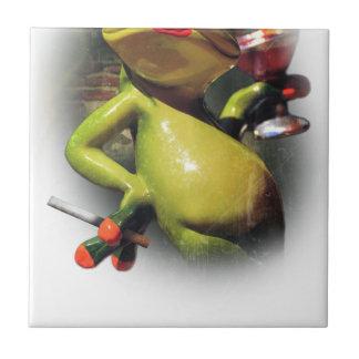 Wellcodaの魅力のカエルの煙のおもしろいな動物 タイル