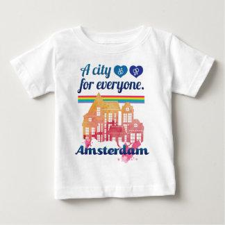 Wellcodaアムステルダム皆人権 ベビーTシャツ