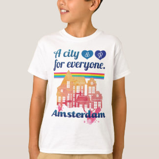 Wellcodaアムステルダム皆人権 Tシャツ