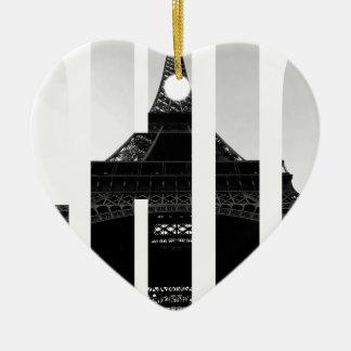 Wellcodaエッフェル塔のシックなスワッグのパリ愛 セラミックオーナメント