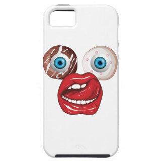 Wellcodaドーナツ眼球の顔の菓子の唇 iPhone 5 タフケース