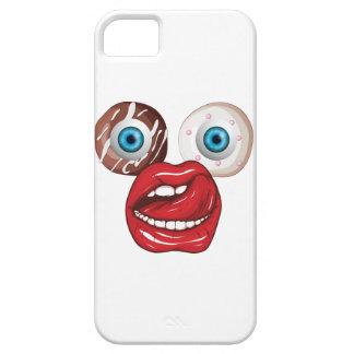 Wellcodaドーナツ眼球の顔の菓子の唇 iPhone SE/5/5s ケース