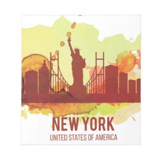 WellcodaニューヨークシティNYC米国の自由 ノートパッド
