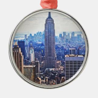 WellcodaニューヨークシティNYC米国の都市生活 メタルオーナメント